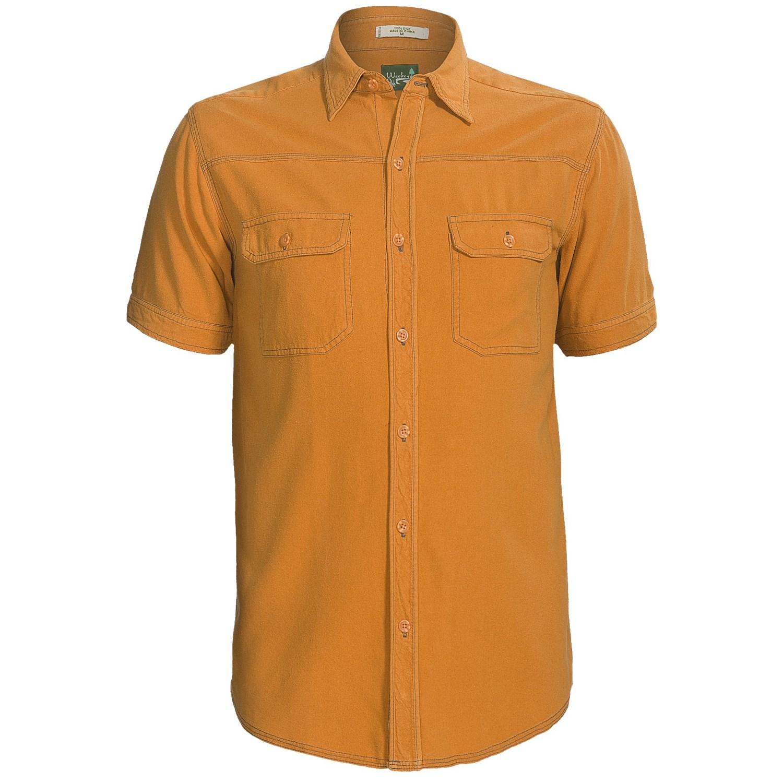 Weekendz off camp shirt silk short sleeve for men for Mens short sleeve camp shirts