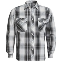 Weekendz Off Cotton Plaid Shirt - Long Sleeve (For Men) in Black - Closeouts