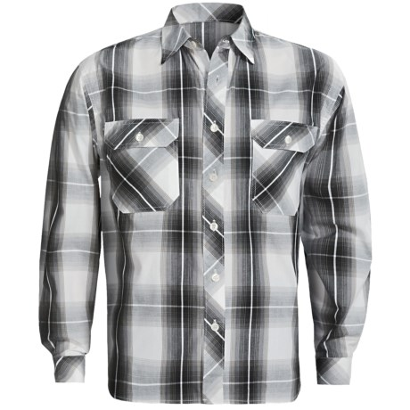 Weekendz Off Cotton Plaid Shirt - Long Sleeve (For Men) in Black