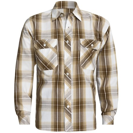 Weekendz Off Cotton Plaid Shirt - Long Sleeve (For Men) in Navy