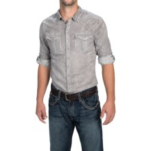Weekendz Off Embroidered Shirt - Snap Front, Long Sleeve (For Men) in Grey - Closeouts