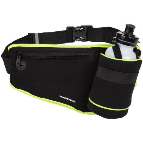 Weider Fuel Belt with Water Bottle in Black W/Lime Trim