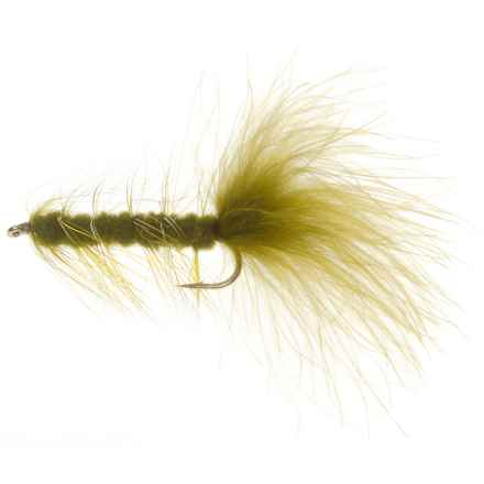 Weighted Woolly Bugger Streamer Fly - Dozen in Olive - Closeouts