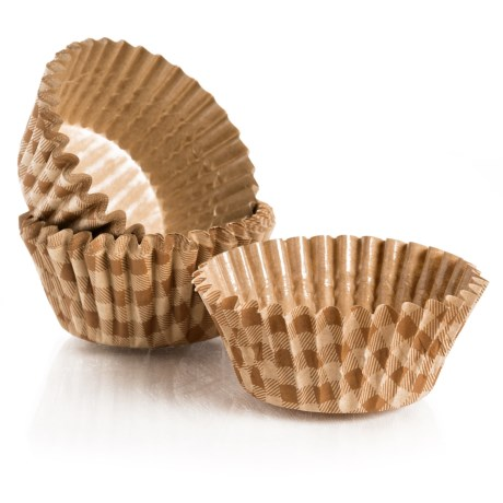 """Welcome Home Brands Ruffled Baking Cups - 2"""", Set of 30 in Check"""