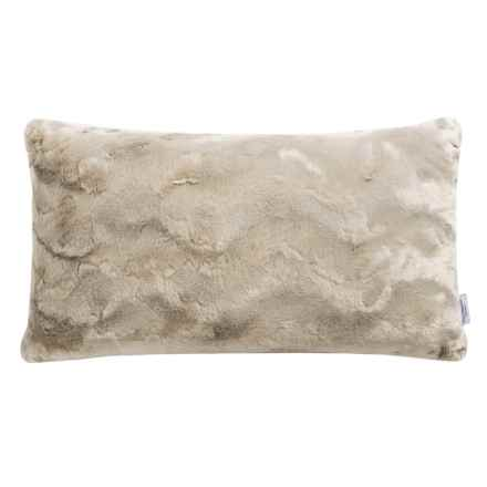 """Well-Dressed Home Bearpaw Faux-Fur Throw Pillow - 14x27"""" in Ivory - Closeouts"""