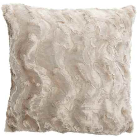 """Well-Dressed Home Bearpaw Faux-Fur Throw Pillow - 22x22"""" in Ivory - Closeouts"""
