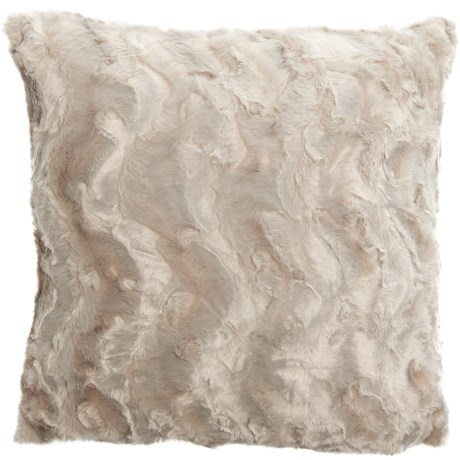 "Well-Dressed Home Bearpaw Faux-Fur Throw Pillow - 22x22"" in Ivory"