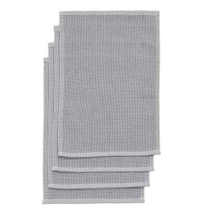 "Well-Dressed Home Chicago Woven Placemats - Set of 4, 13x19"" in Navy - Closeouts"