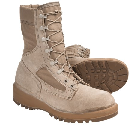 """Wellco Hot Weather Army Combat Boots - 8"""" (For Men) in Tan"""
