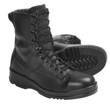 "Wellco Navy Flight Deck TW Gore-Tex® Boots - Waterproof, Steel Toe, Leather, 8"" (For Men) in Black"