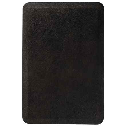 WellnessMats Anti-Fatigue Kitchen Mat - 3x2' in Black Steel - 2nds