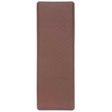 WellnessMats Anti-Fatigue Kitchen Mat - 6x2' in Trellis Brown - 2nds