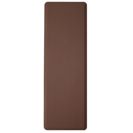 WellnessMats Bella Estate Mat - 6x2' in Brown