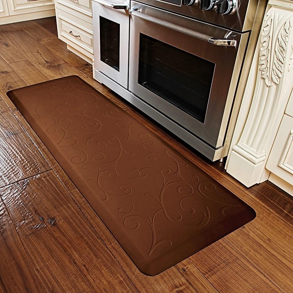 wellnessmats original smooth anti-fatigue kitchen mat - 6' x 2' x
