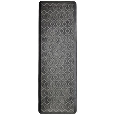 WellnessMats Trellis Estate Anti-Fatigue Mat- 6x2' in Onyx