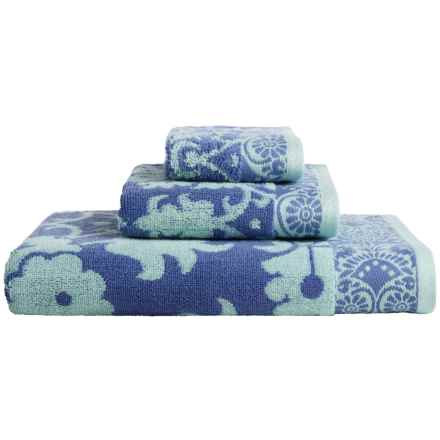 Welspun Amy Butler Cotton Bath Towel Set - 3-Piece in Baligate - Closeouts