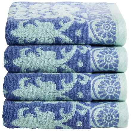 Welspun Amy Butler Cotton Hand Towels - Set of 4 in Baligate - Closeouts