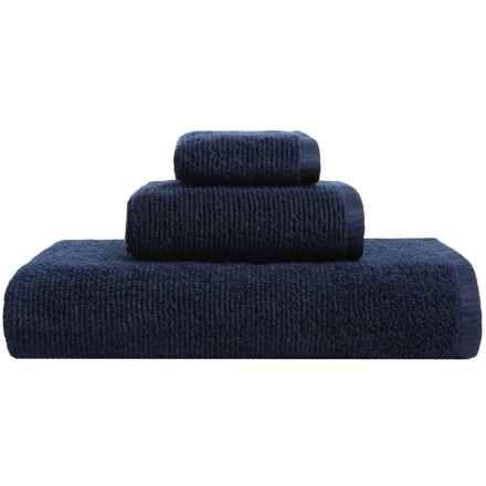 Welspun Anthology Collection Cotton Bath Towel in Navy - Closeouts