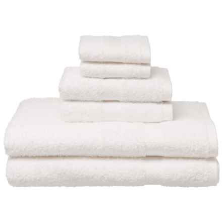 Welspun Carefree Comforts Towel Set - Cotton, 6-Piece in White - Closeouts
