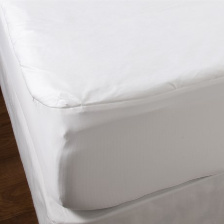 Welspun Carefree Wonders Active Anti-Allergen Mattress Pad - Full in White
