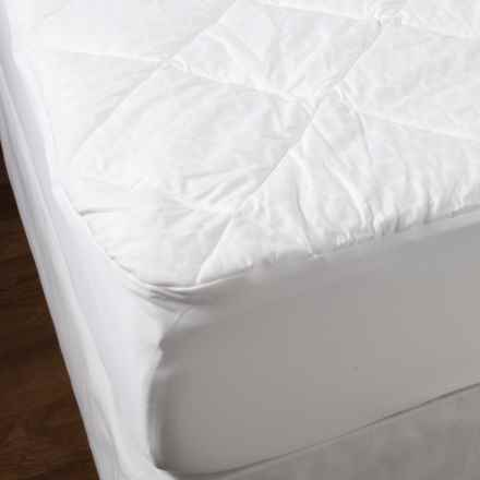 Welspun Crowning Touch Mattress Pad - Full, 500 TC in White - Closeouts
