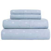 Welspun Swiss Dot Sheet Set - King, 500 TC Cotton Sateen in Blue Frost - Closeouts