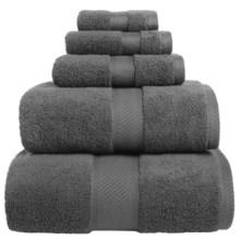 Welspun Wamsutta Duet Bath Sheet - Cotton in Pewter - Overstock