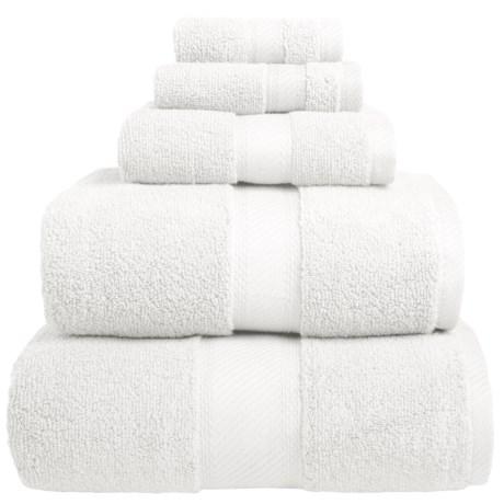Welspun Wamsutta Duet Fingertip Towel - Cotton in White