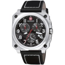 Wenger Aerograph Cockpit Chronograph Watch in Black/Stainless Steel/Black - Closeouts