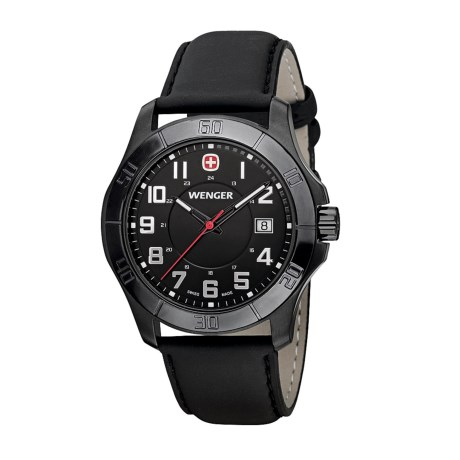 Wenger Alpine Analog Watch - 42mm, Leather Strap