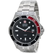 Wenger Alpine Diver Military Watch in Black/Stainless Steel - Closeouts