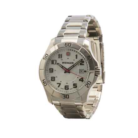 Wenger Alpine Large Analog Watch - Stainless Steel (For Men) in Silver/White - Closeouts