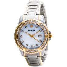 Wenger Bi-Color Sport Watch - Stainless Steel Band (For Women) in White/Gold/Stainless Steel - Closeouts