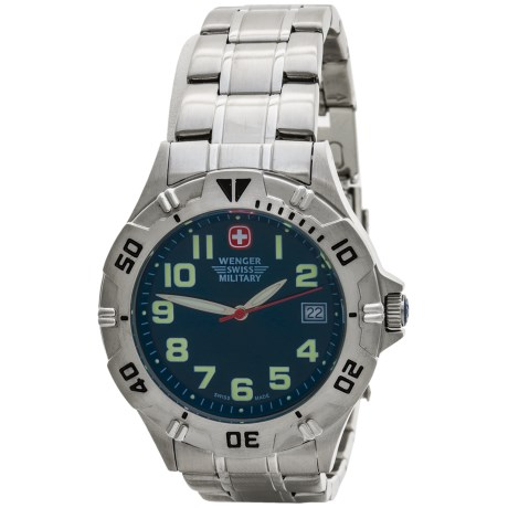 Wenger Brigade Military Watch in Blue/Stainless Steel