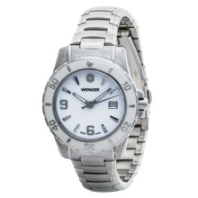 Wenger Elegance Bezel Watch - Stainless Steel Band (For Women) in White/Stainless Steel - Closeouts