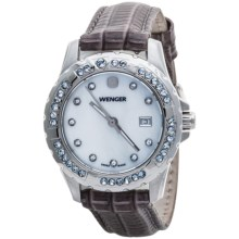 Wenger Elegance Watch - Interchangeable Leather Band (For Women) in White/Black/White/Pink/Blue - Closeouts
