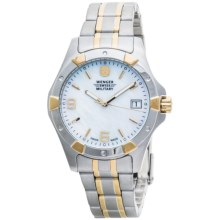 Wenger Elite Standard Issue Watch - Two Tone (For Women) in White/Stainless Steel/Gold - Closeouts