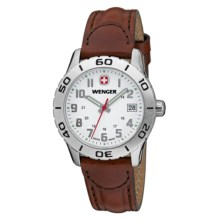 Wenger Grenadier Watch - Leather Band (For Women) in White/Brown - Closeouts