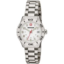Wenger Grenadier Watch - Stainless Band (For Women) in White/Stainless Steel - Closeouts