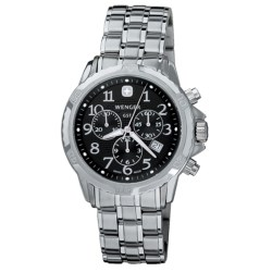 Wenger GST Chronograph Watch (For Men) in Black/Stainless Steel