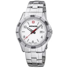 Wenger Platoon Watch - Metal Bracelet (For Men) in White/Stainless Steel - Closeouts
