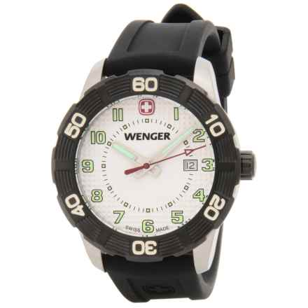 Wenger Roadster Sport Watch - Silicone Strap in White/Black - Closeouts