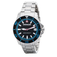 Wenger Sea Force Watch - Stainless Steel Band (For Women) in Black/Blue/Silver - Closeouts