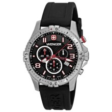 Wenger Squadron Chrono Watch (For Men) in Black/Black - Closeouts