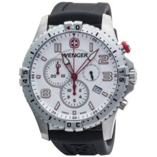 Wenger Squadron Chrono Watch (For Men) in White/Black - Closeouts