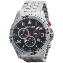 Wenger Squadron Chrono Watch - Stainless Steel Bracelet (For Men) in Black/Stainless Steel - Closeouts