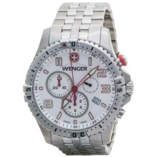 Wenger Squadron Chrono Watch - Stainless Steel Bracelet (For Men) in White/Stainless Steel - Closeouts
