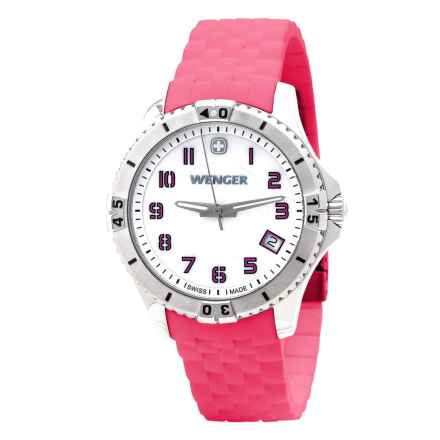 Wenger Squadron Mother-of-Pearl Watch - Silicone Strap (For Women) in Pink - Closeouts