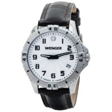Wenger Squadron Watch - Leather Band (For Women) in White/Black - Closeouts