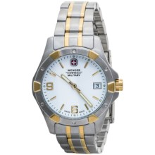 Wenger Swiss Military Alpine Elite Watch - Stainless Steel Band (For Women) in White/Stainless Steel/Gold - Closeouts